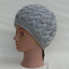Bonnet d hiver à torsades, femme, adolescente, en laine, gris,. Un grand  marché 119f3b10593