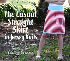 Casual Straight Skirt Tutorial #rileyblakedesigns #knit #skirt #tutorial