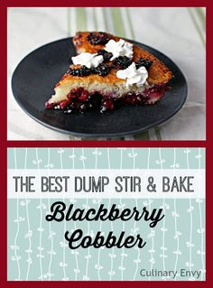 This Blackberry Cobbler is THE BEST! It looks and tastes AMAZING for such little effort. Use frozen or fresh fruit and get ready for compliments.