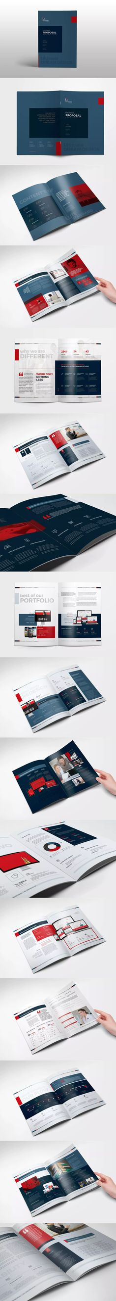 Proposal Template InDesign INDD - A4 and Us Letter Size | Proposal ...