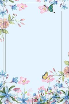 icu ~ Flower Green Leaf Border Poster Butterfly ~ - More than 3 million PNG and graphics resource at Pngtree. Purple Backgrounds, Flower Backgrounds, Flower Wallpaper, Wallpaper Backgrounds, Flower Background Images, Green Leaf Background, Leaf Border, Floral Border, Flower Frame