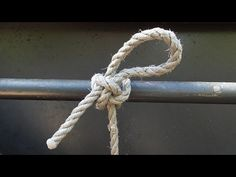 How To Tie A Highwayman's Hitch Knot - YouTube