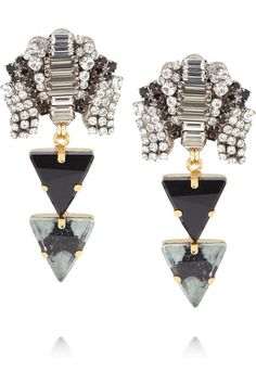vickisarge silver and gold-plated swarovski crystal earrings
