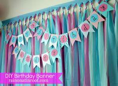 DIY Birthday Party Banner Tutorial - Rain on a Tin Roof