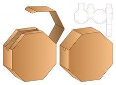Box packaging die cut template design. 3d | Premium Vector Paper Packaging, Bag Packaging, Box Packaging Templates, Diy Gift Box, Diy Box, Paper Box Template, Food Template, Box Templates, Paper Toys