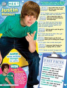 Justin Bieber Google News: Justin Bieber Magazine Cover Tiger Beat