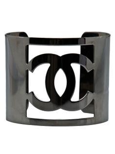 Chanel Vintage Oversized Logo Cuff