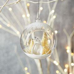 Penguin Globe Ornament   west elm