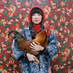 folk style with hen.