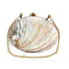 Nautical shell purse
