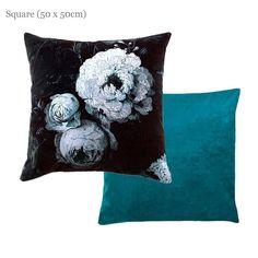 Floralism Moonlight Cushion | Velvet Cushion - Artist Inspired Edouard Manet