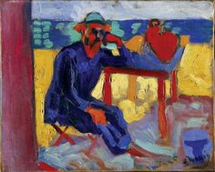 Portrait of Henri Matisse, c. 1905 , by Andre Derain - Cd Paintings Henri Matisse, Andre Derain, Art Fauvisme, Maurice De Vlaminck, Matisse Paintings, Raoul Dufy, Georges Braque, Art Moderne, Colorful Paintings