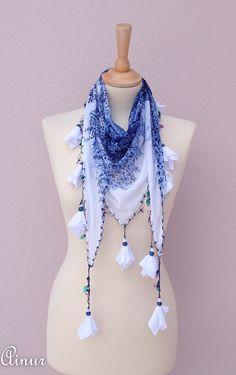BOHO-Turkish scarf OYA scarf-Yemeni by AINURSCARF on Etsy