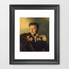 David Bowie - replaceface Framed Art Print by Replaceface - $42.00