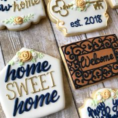 Cookies to celebrate a new home for the Mardones! #homesweethome #welcomehome #welcomehome #housewarming #newhomeowners #cookies…