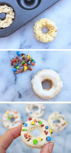 Transform your classic Rice Krispies Treats® recipe into these festive, bite-sized donut-shaped snacks. Whip up a batch and let your kids help decorate each one with crushed candies. This would be a fun and edible birthday party activity!