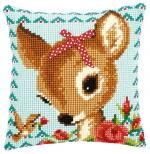 Bambi with a Bow Cushion Front Chunky Cross Stitch Kit