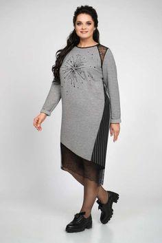 Коллекция женской одежды больших размеров белорусской компании Alani зима 2018-2019 Capsule Outfits, Cold Shoulder Dress, Tunic Tops, Plus Size, Costumes, Womens Fashion, Model, Clothes, Dresses