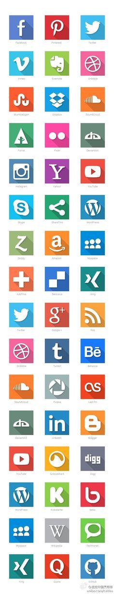 精致的社交图标设计