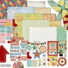 Carnivals Collection digital scrapbooking kit, by Julie White: Scrap Girls