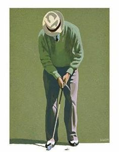 Love these vintage golf posters!