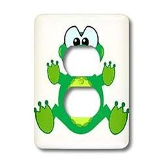 Dooni Designs Goofkins Characters - Goofkins Froggy Frog Cartoon - Light Switch Covers - 2 plug outlet cover by 3dRose, http://www.amazon.com/dp/B00BI5B2MQ/ref=cm_sw_r_pi_dp_8oHprb0DTWCQF