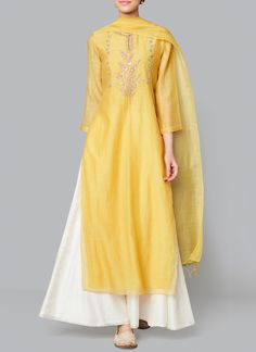 Yellow Samika Suit Shop Yellow Samika Suit from Anita Dongre Pakistani Dresses, Indian Dresses, Indian Outfits, Indian Attire, Indian Ethnic Wear, Indian Suits Punjabi, Indian Designer Outfits, Designer Dresses, Indian Designers