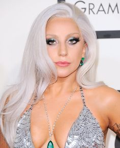 12 Celebrities Who've Gone Gray on Purpose - Lady Gaga from InStyle.com