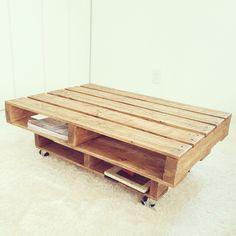 話題の「木製パレット」をリメイクして家具を作ってみよう ... キャスター付きローテーブル(その②)