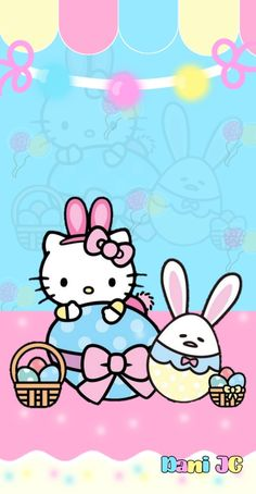 Hello Kitty Backgrounds, Hello Kitty Wallpaper, Kawaii Wallpaper, Wallpaper Iphone Cute, Cute Wallpapers, Hello Kitty Art, Hello Kitty Pictures, Anchor Wallpaper, Easter Wallpaper