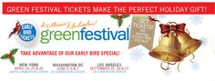Get your specially priced discounted Green Festival tickets here! http://www.greenfestivals.org/