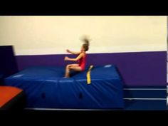 Front handspring front tuck onto mat for height - YouTube