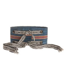 Take a look at this Pacific Blue & Orange Stripe Belt on zulily today!
