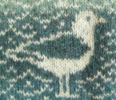 Men's sweater pattern Seagull by Ruth Sorensen for sale on Ravelry for $8.00.  This is a detail from the pattern.