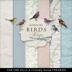 Far Far Hill: New Freebies Kit - Birds Songs