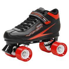 Roller Derby Men's Viper M4 Speed Quad Skates - Black/Red 10, Black Red