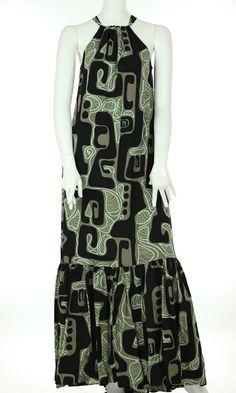 Manuheali'i - Moani Ruffle Polynesian Dresses, Hawaiian Designs, Island Design, Chic Dress, Dress Patterns, Stencil, Islands, Women's Fashion, Flower