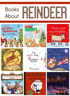 Reindeer books for kids that include silly, heartwarming and fun stories about reindeer. Fiction and nonfiction books about reindeer for preschool.