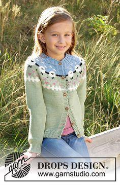 Children - Free knitting patterns and crochet patterns by DROPS Design Baby Knitting Patterns, Baby Sweater Patterns, Knitting For Kids, Knitting Stitches, Free Knitting, Knitting Projects, Crochet Patterns, Drops Design, Baby Pullover Muster