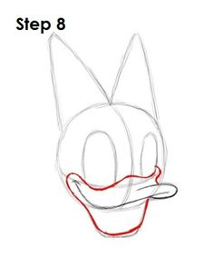 How to Draw Daisy Duck Step 8