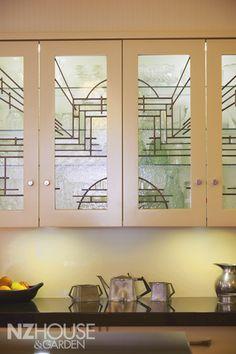 Art Deco kitchen cupboards