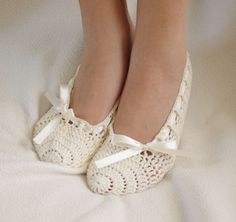Bridal wedding dance shoes slippers Cream  Bridal Party Bridesmaid. $25.00, via Etsy.