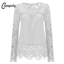 Cinmeprity White Lace Hollow Out Women Blouse Sexy Flowers Chiffon Shirts Femininas Blusas Plus Size Ladies Elegant Tops 5XL     Tag a friend who would love this!     FREE Shipping Worldwide     Buy one here---> https://ourstoreali.com/products/cinmeprity-white-lace-hollow-out-women-blouse-sexy-flowers-chiffon-shirts-femininas-blusas-plus-size-ladies-elegant-tops-5xl/    #aliexpress #onlineshopping #cheapproduct  #womensfashion