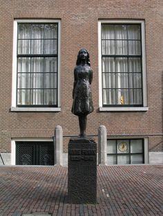 Anne Frank straight and tall, Amsterdam. Sculpture by Mari Andriessen.  http://www.rosettabooks.com/
