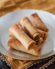 Chinese Spring Roll With Chicken
