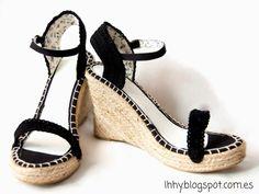 crochet sandals refashion