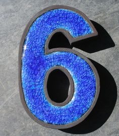 Ceramic and Glass house numbers - Folksy