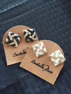 TUITUI Studded Lauhala Earrings by LauhalaLove on Etsy