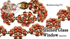 "Beadweaving 771 - Stained Glass Window Bracelet | This video tutorial from The Potomac Bead Company teaches you how to make our ""Stained Glass Window"" bracelet design, using our two-hole RounDuo beads, SuperDuo beads, Miyuki seed beads, and cup buttons"
