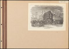Yet another drawing of the Brewery. Always wonder why in different drawings, the buildings in the background (Pirnie's Distillery) seem to be set at different angles. (Museum of the City of New York) Distillery, Brewery, Columbus Park, Mission House, Clay Pipes, Five Points, Prayer Times, Kids Seating, Old And New